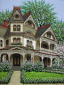 Sue wall custom pet paintings and home portraits still for Custom built victorian homes